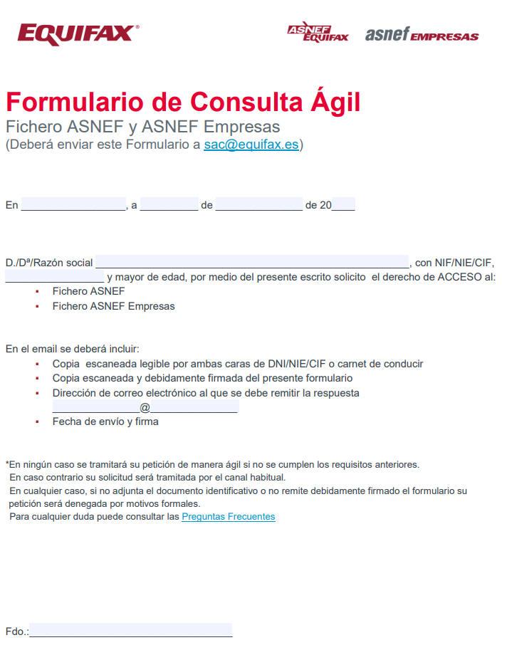 Formulario consulta